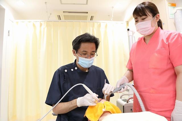 再評価(状態に応じて歯周外科治療へ)<